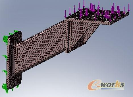 solidworks simulation在电机安装支架设计中的应用