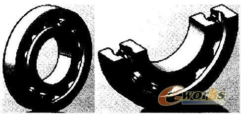 轴承装配图体及剖视图