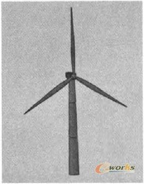 用SolidWorks完成的风电机装配图