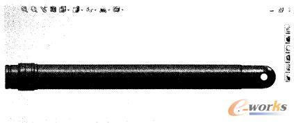 液压缸部件的参数化设计图片