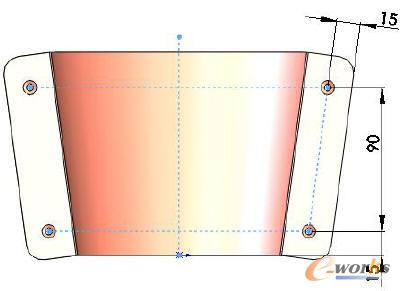 锥形圆柱体展开图-锥形圆筒下料展开图片图片