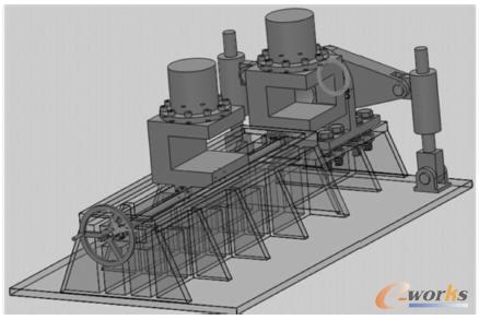 扭曲液压校直机的机构结构