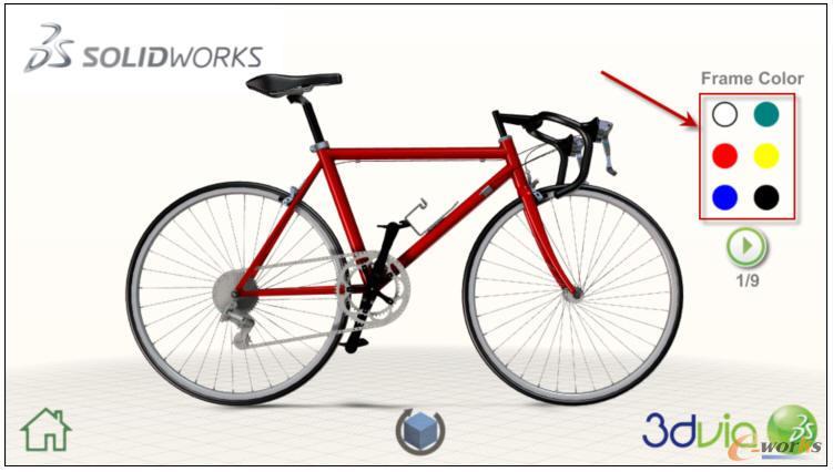 使用这些相同的步骤添加其余的自行车组件的