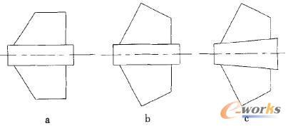诱导轮轴向截面形状
