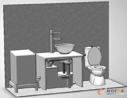 ks的一种节水马桶系统的结构设计