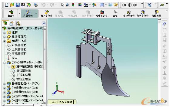基于solidworks的新型玉米播种机虚拟设计